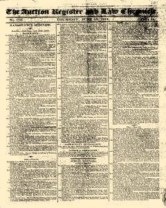 Auction Register And Law Chronicle, June 16, 1814, Page 1