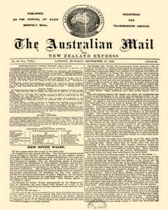 Australian Mail And New Zealand Express, September 17, 1866, Page 1