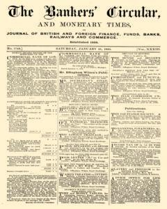 Bankers Circular, January 21, 1860, Page 1