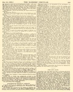 Bankers Circular, January 21, 1860, Page 11