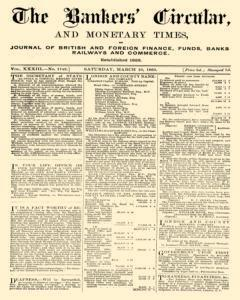 Bankers Circular, March 10, 1860, Page 1