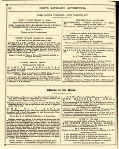Bents Monthly Literary Advertiser, January 11, 1843, Page 28
