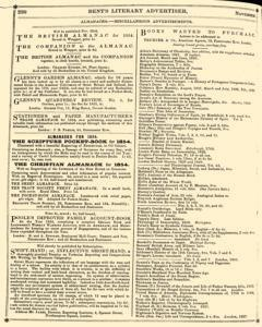 Bents Monthly Literary Advertiser, November 11, 1853, Page 16
