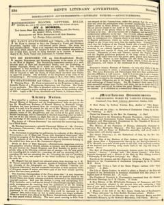Bents Monthly Literary Advertiser, November 11, 1853, Page 20