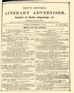 Bents Monthly Literary Advertiser, November 11, 1853, Page 1