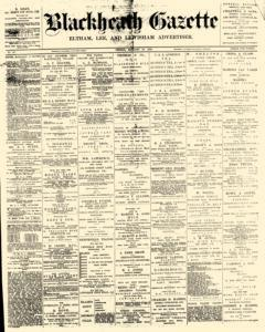 Blackheath Gazette, January 20, 1893, Page 1