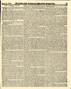British And Colonial Weekly Register