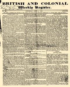 British And Colonial Weekly Register, June 05, 1824, Page 1
