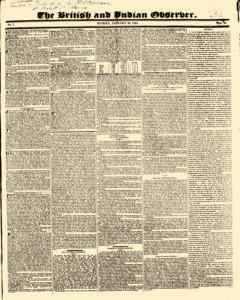 British And Indian Observer, January 25, 1824, Page 1