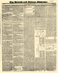 British And Indian Observer newspaper archives