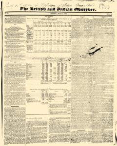 British And Indian Observer, July 11, 1824, Page 1