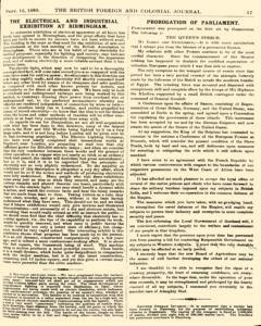 British Foreign And Colonial Journal