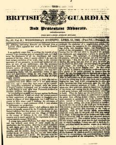 British Guardian, April 13, 1825, Page 1