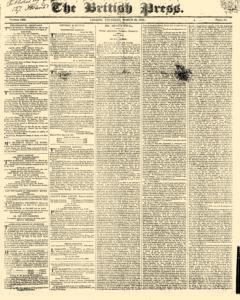 British Press, March 23, 1820, Page 1