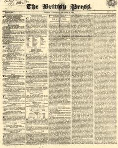 British Press, October 04, 1820, Page 1