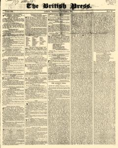 British Press, October 05, 1820, Page 1