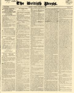 British Press, October 17, 1820, Page 1