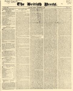 British Press, October 20, 1820, Page 1