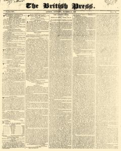British Press, October 21, 1820, Page 1