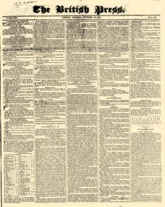 British Press, October 15, 1821, Page 1
