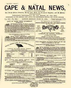 Cape And Natal News, June 27, 1870, Page 1
