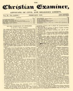 Christian Examiner And Advocate Of Civil Liberty, February 01, 1847, Page 1