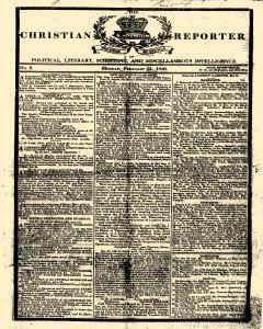 Christian Reporter, February 21, 1820, Page 1