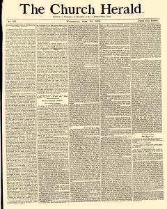 Church Herald, September 25, 1872, Page 1