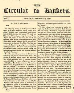 Circular To Bankers, June 12, 1828, Page 1