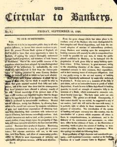 Circular To Bankers, June 19, 1828, Page 1