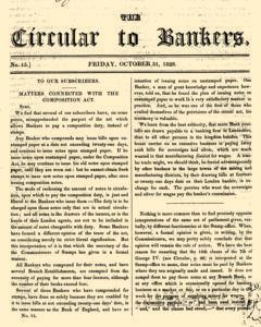 Circular To Bankers, October 31, 1828, Page 1
