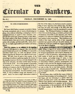 Circular To Bankers, December 12, 1828, Page 1