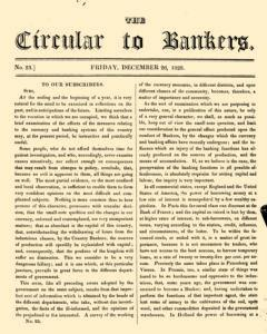 Circular To Bankers, December 26, 1828, Page 1