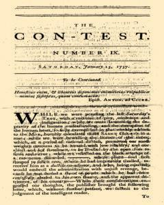 Con Test, January 15, 1757, Page 1