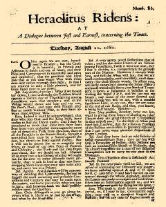 Continuation Of Special And Remarkable Passages, August 22, 1682, Page 1