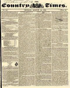 Country Times, August 15, 1831, Page 1