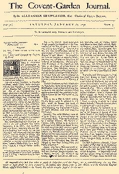 Covent Garden Journal, January 18, 1752, Page 1