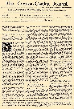 Covent Garden Journal, January 21, 1752, Page 1