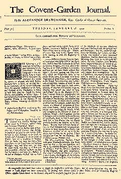 Covent Garden Journal, January 28, 1752, Page 1