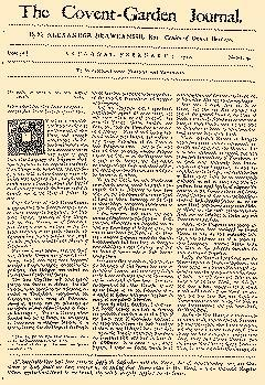 Covent Garden Journal, February 01, 1752, Page 1