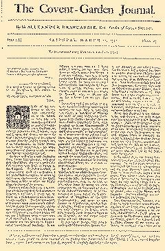 Covent Garden Journal, March 21, 1752, Page 1