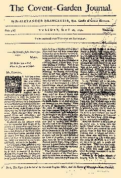 Covent Garden Journal, May 26, 1752, Page 1