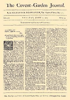 Covent Garden Journal, June 02, 1752, Page 1