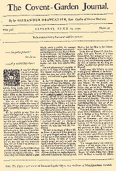 Covent Garden Journal, June 13, 1752, Page 1