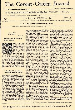 Covent Garden Journal, June 16, 1752, Page 1