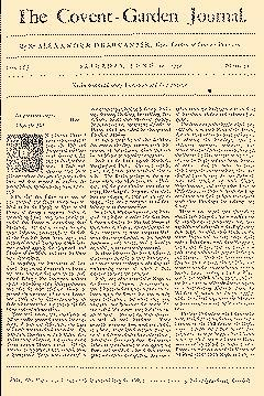 Covent Garden Journal, June 20, 1752, Page 1