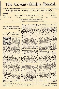 Covent Garden Journal, November 04, 1752, Page 1