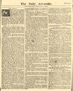 Daily Advertiser, January 04, 1743, Page 1