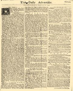 Daily Advertiser, January 05, 1743, Page 1