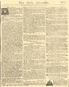 Daily Advertiser, January 12, 1743, Page 1